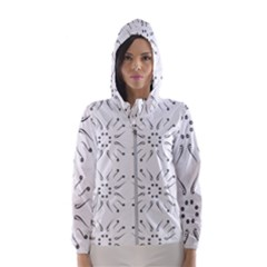 Squid Flower Floral Polka Dots Sunflower Hooded Wind Breaker (women)