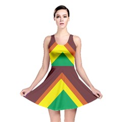 Triangle Chevron Rainbow Web Geeks Reversible Skater Dress