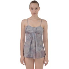 Marbled Structure 5a Babydoll Tankini Set by MoreColorsinLife