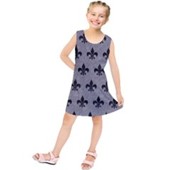 Royal1 Black Marble & Gray Colored Pencil Kids  Tunic Dress by trendistuff