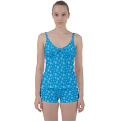 Xmas Pattern Tie Front Two Piece Tankini by Valentinaart