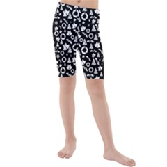 Xmas Pattern Kids  Mid Length Swim Shorts by Valentinaart
