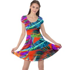 Aloha Hawaiian Flower Floral Sexy Summer Orange Cap Sleeve Dress by Mariart