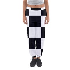 Grid Domino Bank And Black Women s Jogger Sweatpants