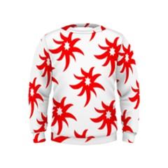 Star Figure Form Pattern Structure Kids  Sweatshirt