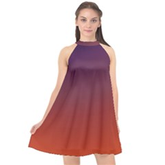 Course Colorful Pattern Abstract Halter Neckline Chiffon Dress  by Nexatart