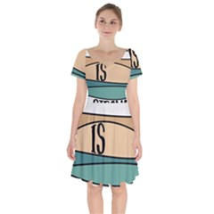 Love Sign Romantic Abstract Short Sleeve Bardot Dress by Nexatart