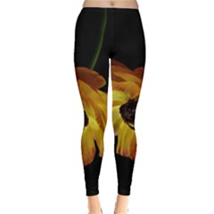 Ranunculus Yellow Orange Blossom Leggings