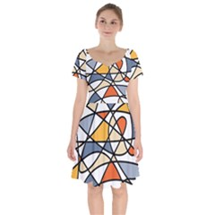 Abstract Background Abstract Short Sleeve Bardot Dress by Nexatart