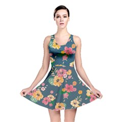 Aloha Hawaii Flower Floral Sexy Reversible Skater Dress