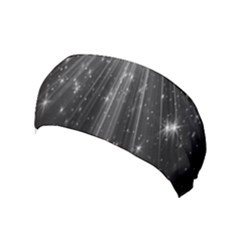 Black Rays Light Stars Space Yoga Headband by Mariart