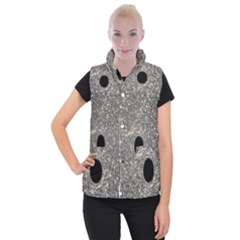 Black Hole Blue Space Galaxy Star Light Women s Button Up Puffer Vest by Mariart