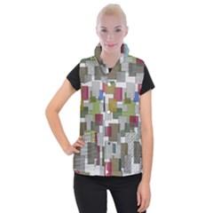 Decor Painting Design Texture Women s Button Up Puffer Vest by Nexatart