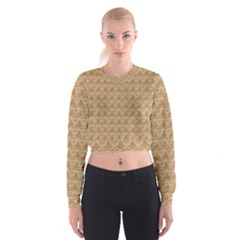 Cake Brown Sweet Cropped Sweatshirt by Mariart