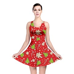 Ginger Cookies Christmas Pattern Reversible Skater Dress by Valentinaart