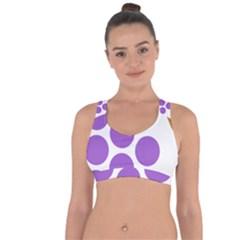 Fruit Grape Purple Cross String Back Sports Bra by Mariart