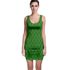 Green Seed Polka Bodycon Dress by Mariart