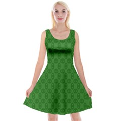 Green Seed Polka Reversible Velvet Sleeveless Dress by Mariart