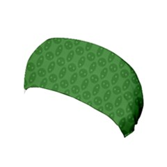 Green Seed Polka Yoga Headband by Mariart