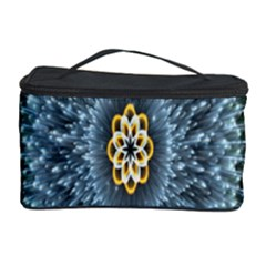 Hipnotic Star Space White Green Cosmetic Storage Case by Mariart