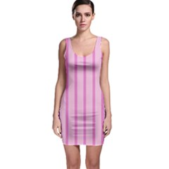 Line Pink Vertical Bodycon Dress by Mariart
