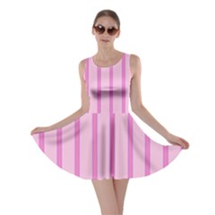Line Pink Vertical Skater Dress by Mariart