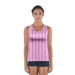 Line Pink Vertical Sport Tank Top  by Mariart