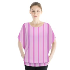 Line Pink Vertical Blouse by Mariart