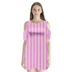 Line Pink Vertical Shoulder Cutout Velvet One Piece by Mariart
