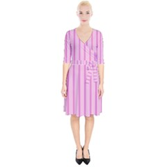 Line Pink Vertical Wrap Up Cocktail Dress by Mariart