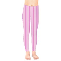 Line Pink Vertical Kids  Legging by Mariart