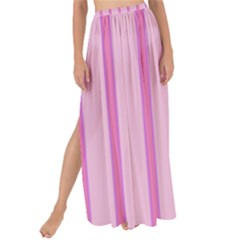 Line Pink Vertical Maxi Chiffon Tie Up Sarong by Mariart
