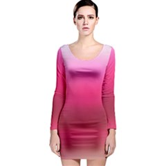 Line Pink Space Sexy Rainbow Long Sleeve Bodycon Dress by Mariart
