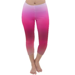 Line Pink Space Sexy Rainbow Capri Winter Leggings  by Mariart