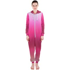 Line Pink Space Sexy Rainbow Hooded Jumpsuit (ladies)  by Mariart