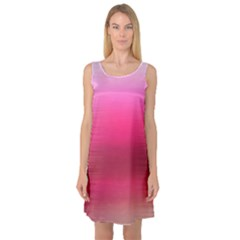 Line Pink Space Sexy Rainbow Sleeveless Satin Nightdress by Mariart