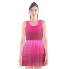 Line Pink Space Sexy Rainbow Scoop Neck Skater Dress by Mariart