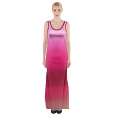 Line Pink Space Sexy Rainbow Maxi Thigh Split Dress by Mariart