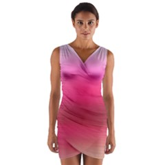 Line Pink Space Sexy Rainbow Wrap Front Bodycon Dress by Mariart