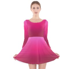 Line Pink Space Sexy Rainbow Long Sleeve Velvet Skater Dress by Mariart