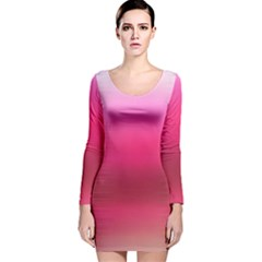 Line Pink Space Sexy Rainbow Long Sleeve Velvet Bodycon Dress by Mariart