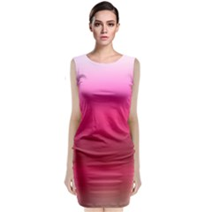 Line Pink Space Sexy Rainbow Classic Sleeveless Midi Dress by Mariart