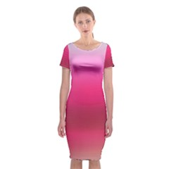 Line Pink Space Sexy Rainbow Classic Short Sleeve Midi Dress by Mariart