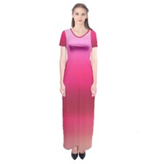 Line Pink Space Sexy Rainbow Short Sleeve Maxi Dress by Mariart