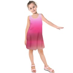 Line Pink Space Sexy Rainbow Kids  Sleeveless Dress by Mariart