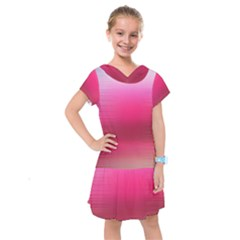 Line Pink Space Sexy Rainbow Kids  Drop Waist Dress by Mariart