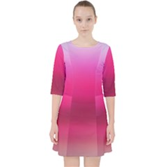 Line Pink Space Sexy Rainbow Pocket Dress by Mariart