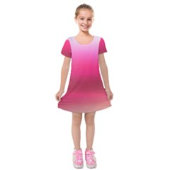 Line Pink Space Sexy Rainbow Kids  Short Sleeve Velvet Dress by Mariart