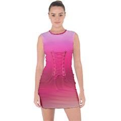 Line Pink Space Sexy Rainbow Lace Up Front Bodycon Dress by Mariart