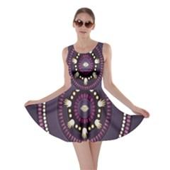 Mandalarium Hires Hand Eye Purple Skater Dress